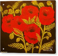 Red Poppy-original Sold-buy Giclee Print Nr 31 Of Limited Edition Of 40 Prints  Acrylic Print by Eddie Michael Beck