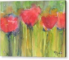 Red Poppy Elegance Acrylic Print