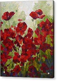 Red Poppy Field Acrylic Print