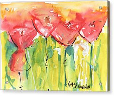 Red Poppy Party Acrylic Print