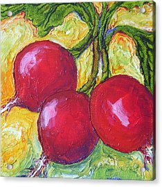 Red Radishes Acrylic Print by Paris Wyatt Llanso