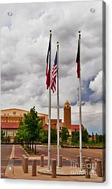 Acrylic Print featuring the photograph Red Raider Spirit Arena by Mae Wertz