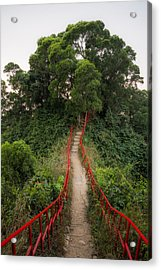 Red Rails Acrylic Print