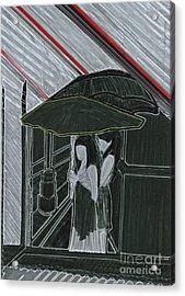 Red Rain Acrylic Print by First Star Art