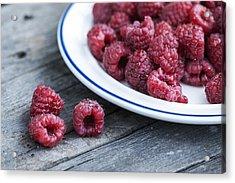 Red Raspberries Acrylic Print by Juli Scalzi