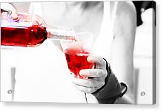 Red Red Wine Acrylic Print by Jenny Rainbow