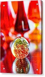 Red Reflections Acrylic Print by Jon Woodhams