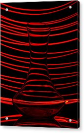 Red Rhythm Acrylic Print by Davorin Mance