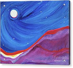 Acrylic Print featuring the painting Red Ridge By Jrr by First Star Art