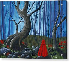 Red Riding Hood In The Forest Acrylic Print