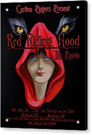 Red Riding Hood Acrylic Print by Steve Jones