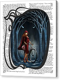 Red Riding Hood With Text Acrylic Print