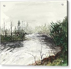 Red River Rapids Acrylic Print