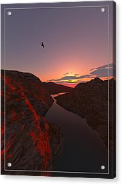 Red River... Acrylic Print by Tim Fillingim