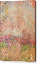 Acrylic Print featuring the painting Red Road In Sunlight by John Fish