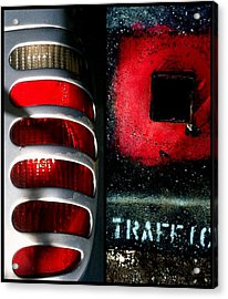 Red Road Rage Acrylic Print