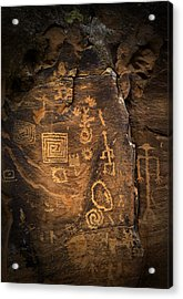Red Rock Art Acrylic Print