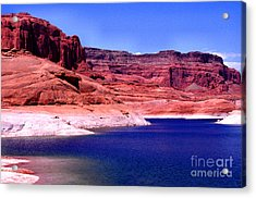 Red Rock Blue Sky Acrylic Print by Thomas R Fletcher