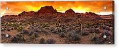 Red Rock Canyon Las Vegas Nevada Fenced Wonder Acrylic Print by Silvio Ligutti
