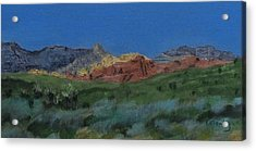 Red Rock Canyon Panorama Acrylic Print