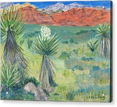 Red Rock Canyon With Yucca Acrylic Print