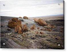 Red Rock Coulee II Acrylic Print by Leanna Lomanski