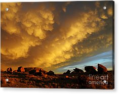 Red Rock Coulee Sunset Acrylic Print by Vivian Christopher