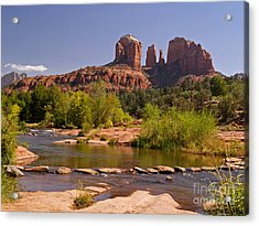 Red Rock Crossing Acrylic Print by Alex Cassels