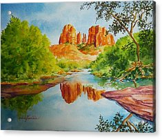 Red Rock Crossing  Acrylic Print by Gracia  Molloy