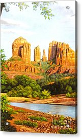 Red Rock Crossing In Sedona Acrylic Print