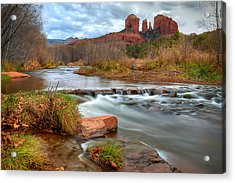 Red Rock Crossing Acrylic Print