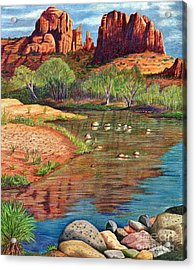 Red Rock Crossing-sedona Acrylic Print by Marilyn Smith