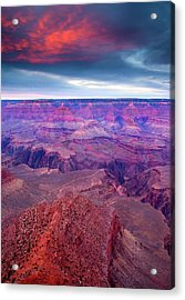 Red Rock Dusk Acrylic Print by Mike  Dawson