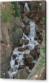 Red Rock Falls Acrylic Print