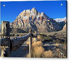 Red Rock Snow Acrylic Print