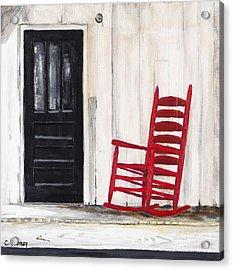 Red Rocker Acrylic Print by Carla Dabney