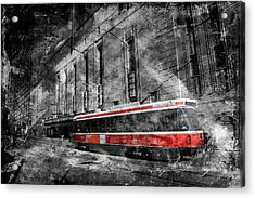 Red Rocket 23d Acrylic Print by Andrew Fare