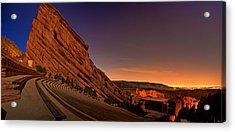 Red Rocks Amphitheatre At Night Acrylic Print