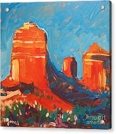 Red Rocks At Sedona Acrylic Print by Micheal Jones