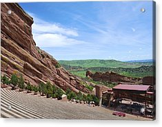 Red Rocks Acrylic Print by Charlie and Norma Brock