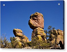 Red Rocks In The Chiracahua Mountains Acrylic Print by Diane Lent