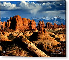 Red Rocks Acrylic Print