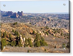 Red Rocks Open Space And Garden Of The Gods Acrylic Print