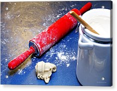 Red Rolling Pin Acrylic Print