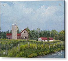 Red Roof Barns Acrylic Print