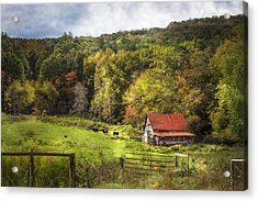 Red Roof In The Smokies Acrylic Print