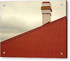Red Roof Acrylic Print by Kaleidoscopik Photography