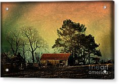 Red Roof Landscape Acrylic Print
