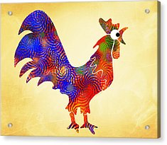 Red Rooster Art Acrylic Print by Christina Rollo