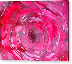 Red Rose Acrylic Print by Melissa Torres
